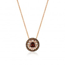Ladies .540 Ctw Diamond Pendant / Rose Gold 14 Kt.
