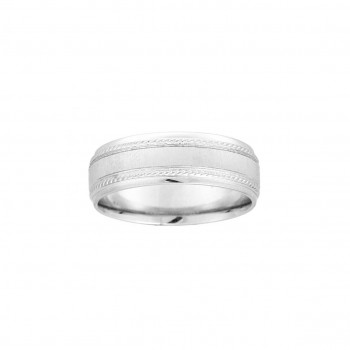 Gents Sterling Silver Wedding Band