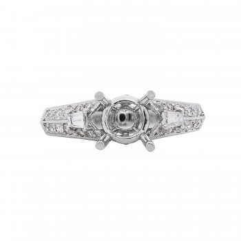 Ladies .450 Ctw Diamond Semi-mount / 18 Kt W
