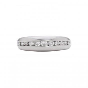 Ladies .330 Ctw Round Cut Diamond Ring / Platinum