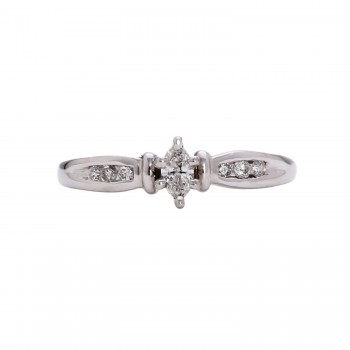 Ladies .330 Ctw Marquise Cut Diamond Ring / Platinum