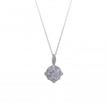 14KW .29ctw Diamond Pendant