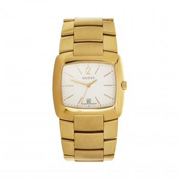 Gents Stainless Watch / Yellow plate