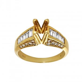 Ladies .750 Ctw Diamond Semi-mount / 18 Kt Y