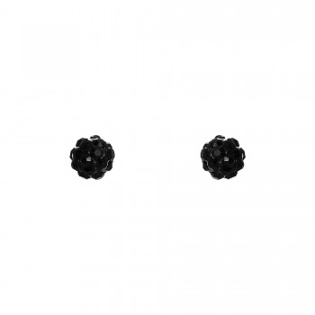 Inox Black Crystal Studs