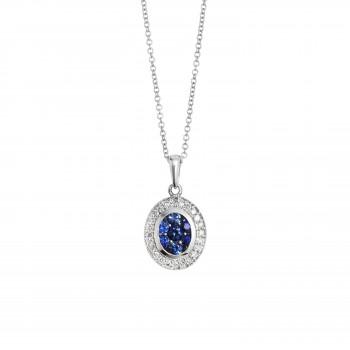 Ladies Sapphire Pendant / 14 Kt W