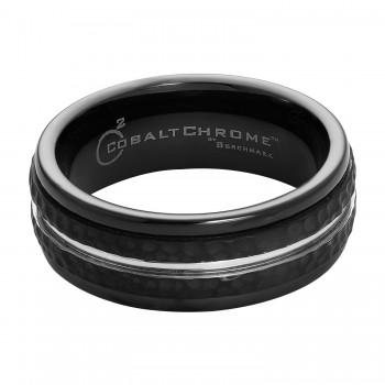 Benchmark Cobalt Chrome Black & Silver Ring