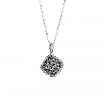 Ladies .610 Ctw Diamond Pendant / 14 Kt W