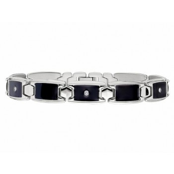 Gents Diamond Bracelet / Stainless