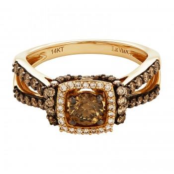 Le Vian .710 Ctw Diamond Ring / 14 Kt Y