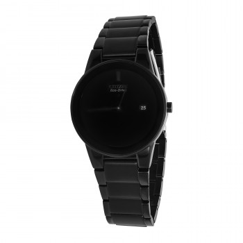 Citizen Eco-Drive Men's Black-Plated Watch