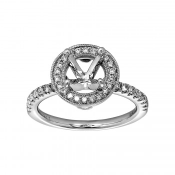 Ladies .400 Ctw Diamond Semi-mount / 14 Kt W