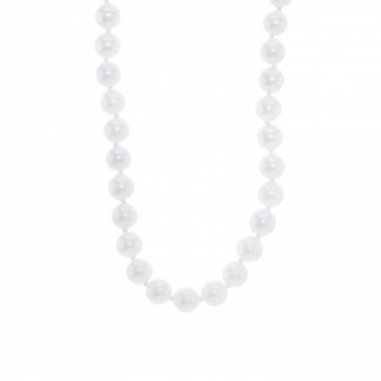"""Akoya Cultured Pearl Necklace 18"""" 6-6.5mm"""