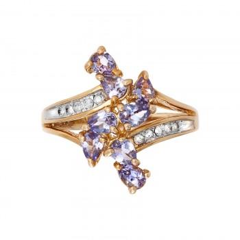 10ky Tanzanite and Diamond Ring