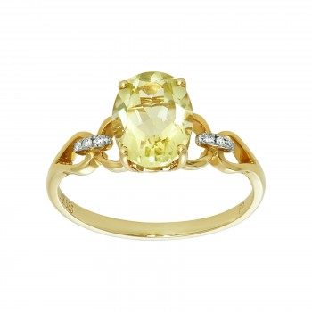 Ladies Peridot Ring / 14 Kt Y