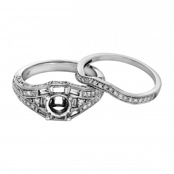Diamond Wedding Set / 14 Kt W