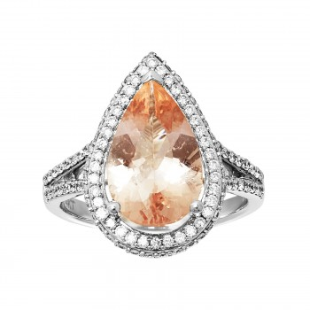 Ladies Miscellaneous Ring / 14 Kt W