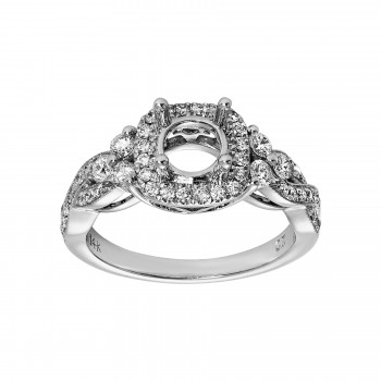 Ladies .550 Ctw Diamond Semi-mount / 14 Kt W