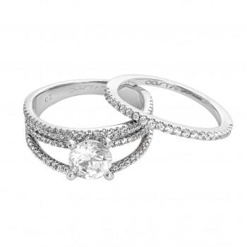 Ladies Silver Wedding Set / Silver