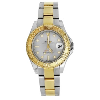 Ladies Stainless Steel & 18ky Oyster Perpetual Date Yacht Master