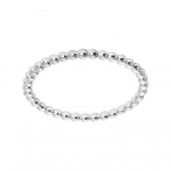 Ladies White Gold Ring / 14 Kt W