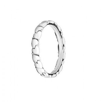 Silver Everlasting Heart Stackable Ring