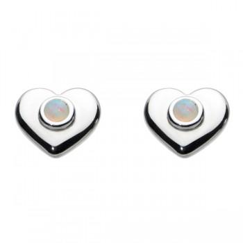 Kit Heath Opal Heart Earrings