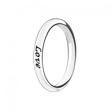 Silver Stackable Ring Live Laugh Love