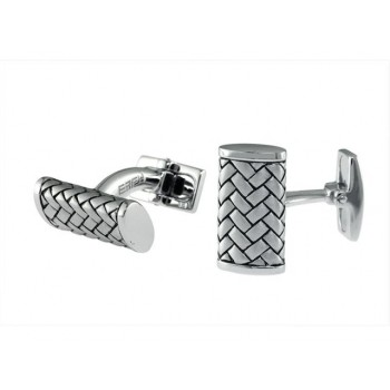EFFY Gents Silver Cuff Links / Silver & 10 Kt.