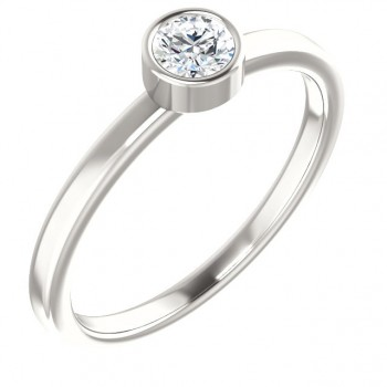 Imitation Diamond Ring / Sterling Silver