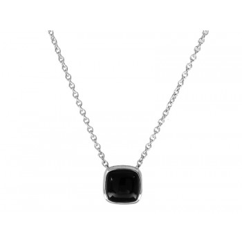 Ladies Onyx Necklace / Sterling Silver