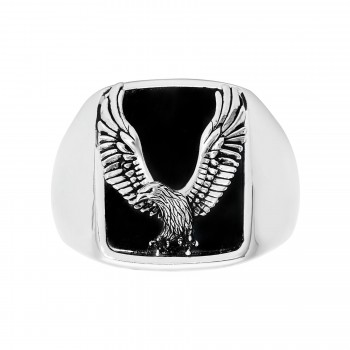 EFFY Men's Onyx Eagle Ring / Silver