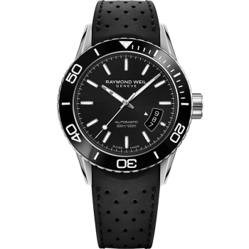 Gents Raymond Weil Freelancer Automatic Rubber Strap