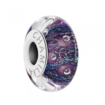 Effervescense Merlot Murano Glass Bead