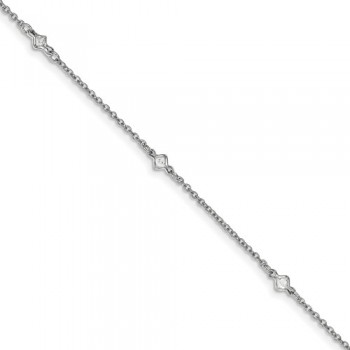Ladies Silver Anklet / Silver