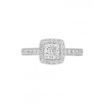 Ladies Diamond Ring Mount / 2-Tone 14 Kt.
