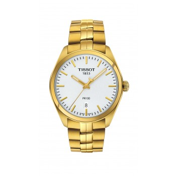 Tissot Men's PR 100 Yellow Gold Watch