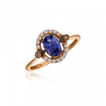Ladies Tanzanite Ring / Rose Gold 14 Kt.