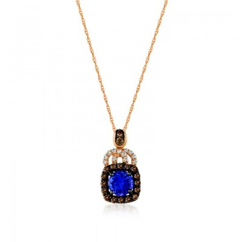 Ladies .600 Ctw Tanzanite Pendant / Rose Gold 14 Kt.