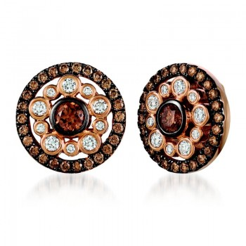 Ladies Diamond Earrings / Rose Gold 14 Kt.