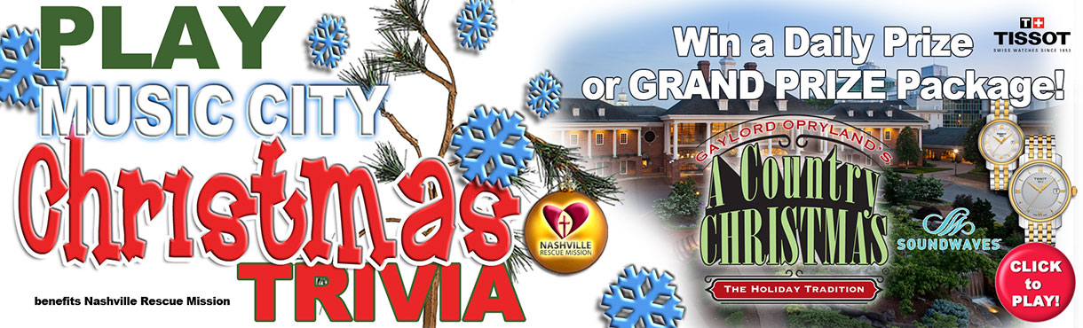 Play Music City Christmas Trivia for a chance to win the grand prize!